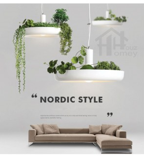 HH Natura 1-Light Farmhouse Style Artificial Plants Pendant