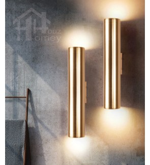 HH Metallic 2-Light Gold Colour Aluminium Up and Down Wall Light