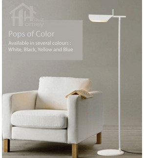 HH Colour-Pop 1-Light Metal Floor Lamp with Tapered Metal Shade
