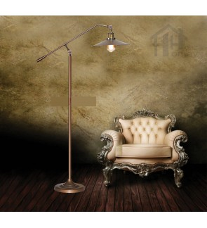 HH Retro 1-Light Adjustable Metal Floor Lamp