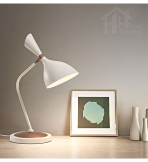 HH Minimalist 1-Light Metal Table Lamp with Weighted Metal Base