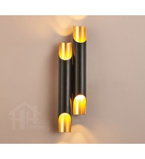 HH Minimalist Black Metal Tube Wall Light