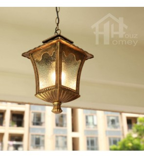 HH Metal Ceiling Semi-Flushmount with Square Inner Curved Glass Shade