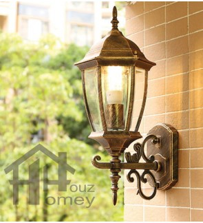 HH 1-Light White Metal Outer Bend Outdoor Wall Light