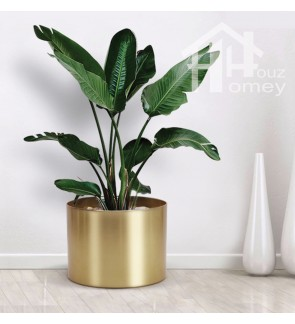 HH Gold Colour Electroplated Metal Planter Pot