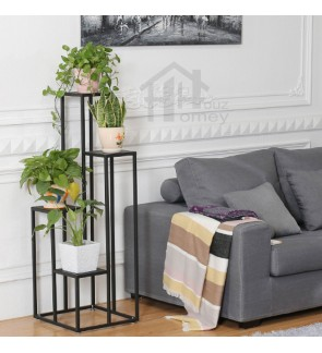 HH Black Metal Multi-storey Planter Rack