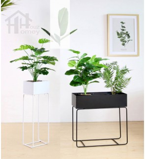 HH Minimalist Metal Planter Rack with Planter Pot