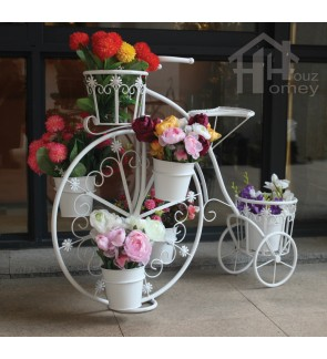 HH Idyllic Metal Bicycle Planter Rack