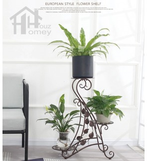 HH Benipe II Metal Multi-Storey Interior Planter Rack