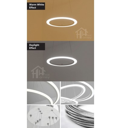 HH Minimalist Integrated LED Nordic Simplicity Single Ring Pendant